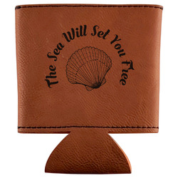 Sea Shells Leatherette Can Sleeve (Personalized)