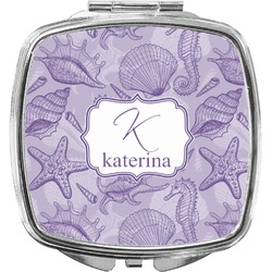 Sea Shells Compact Makeup Mirror (Personalized)