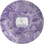 Sea Shells Melamine Plate (Personalized)