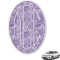 Sea Shells Monogram Car Decal (Personalized)