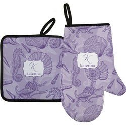 Sea Shells Oven Mitt & Pot Holder (Personalized)