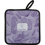 Sea Shells Pot Holder w/ Name and Initial