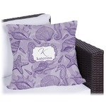 Sea Shells Outdoor Pillow (Personalized)