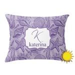Sea Shells Outdoor Throw Pillow (Rectangular) (Personalized)