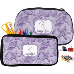 Sea Shells Pencil / School Supplies Bag (Personalized)