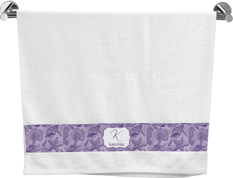 Sea Shells Bath Towel Personalized Youcustomizeit