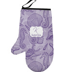 Sea Shells Left Oven Mitt (Personalized)