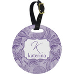 Sea Shells Round Luggage Tag (Personalized)
