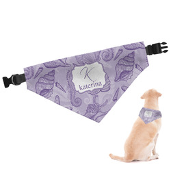 Sea Shells Dog Bandana - Large (Personalized)
