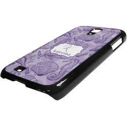 Sea Shells Plastic Samsung Galaxy 4 Phone Case (Personalized)