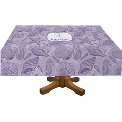 """Sea Shells Tablecloth - 58""""x102"""" (Personalized)"""