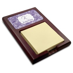 Sea Shells Red Mahogany Sticky Note Holder (Personalized)
