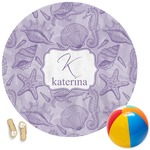Sea Shells Round Beach Towel (Personalized)