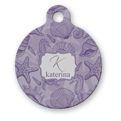 Sea Shells Round Pet Tag (Personalized)