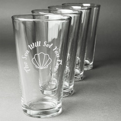 Sea Shells Beer Glasses (Set of 4) (Personalized)