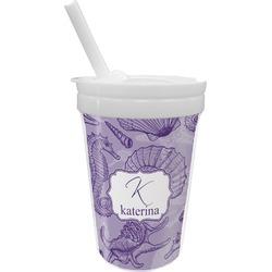 Sea Shells Sippy Cup with Straw (Personalized)