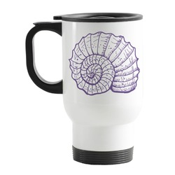 Sea Shells Stainless Steel Travel Mug with Handle