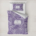 Sea Shells Toddler Bedding w/ Name and Initial