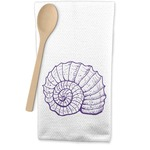 Sea Shells Waffle Weave Kitchen Towel (Personalized)