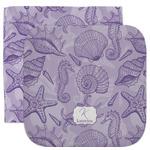 Sea Shells Facecloth / Wash Cloth (Personalized)