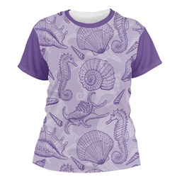 Sea Shells Women's Crew T-Shirt (Personalized)