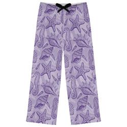 Sea Shells Womens Pajama Pants (Personalized)