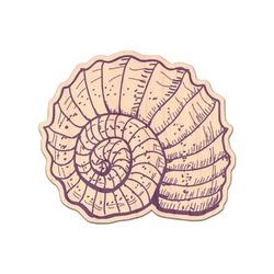 Sea Shells Genuine Wood Sticker (Personalized)