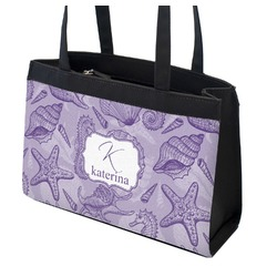 Sea Shells Zippered Everyday Tote (Personalized)