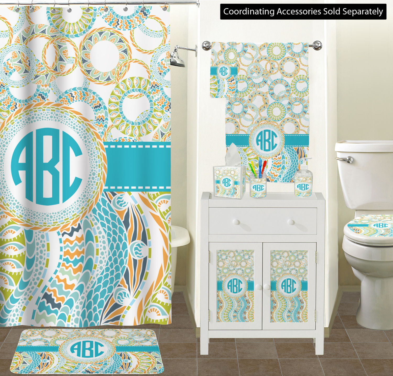 Teal Circles & Stripes Spa / Bath Wrap (Personalized) - YouCustomizeIt