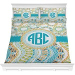 Teal Circles & Stripes Comforters (Personalized)