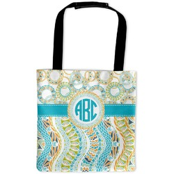 Teal Circles & Stripes Auto Back Seat Organizer Bag (Personalized)