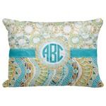 "Teal Circles & Stripes Decorative Baby Pillowcase - 16""x12"" (Personalized)"