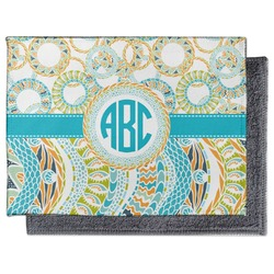 Teal Circles & Stripes Microfiber Screen Cleaner (Personalized)