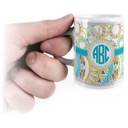 Teal Circles & Stripes Espresso Mug - 3 oz (Personalized)