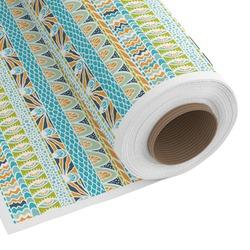 Teal Circles & Stripes Custom Fabric - Spun Polyester Poplin (Personalized)