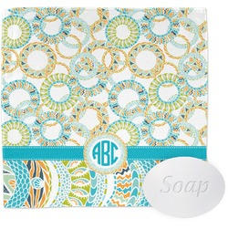 Teal Circles & Stripes Wash Cloth (Personalized)