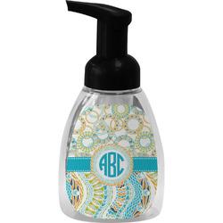 Teal Circles & Stripes Foam Soap Dispenser (Personalized)
