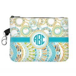 Teal Circles & Stripes Golf Accessories Bag (Personalized)
