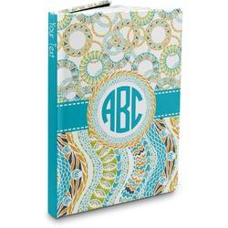 Teal Circles & Stripes Hardbound Journal (Personalized)