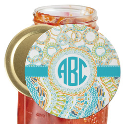 Teal Circles & Stripes Jar Opener (Personalized)