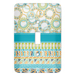 Teal Circles & Stripes Light Switch Covers (Personalized)