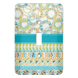 Teal Circles & Stripes Light Switch Covers - Multiple Toggle Options Available (Personalized)