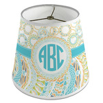 Teal Circles & Stripes Empire Lamp Shade (Personalized)
