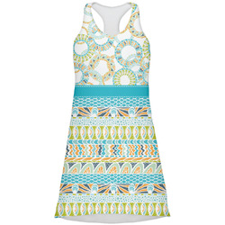 Teal Circles & Stripes Racerback Dress (Personalized)