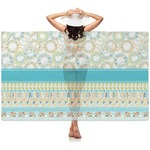 Teal Circles & Stripes Sheer Sarong (Personalized)