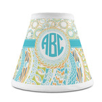 Teal Circles & Stripes Chandelier Lamp Shade (Personalized)