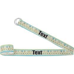 Teal Circles & Stripes Yoga Strap (Personalized)