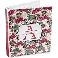 Sugar Skulls & Flowers 3-Ring Binder (Personalized)