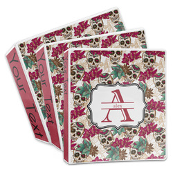 Sugar Skulls & Flowers 3-Ring Binder (Personalized)