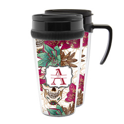 Sugar Skulls & Flowers Acrylic Travel Mugs (Personalized)